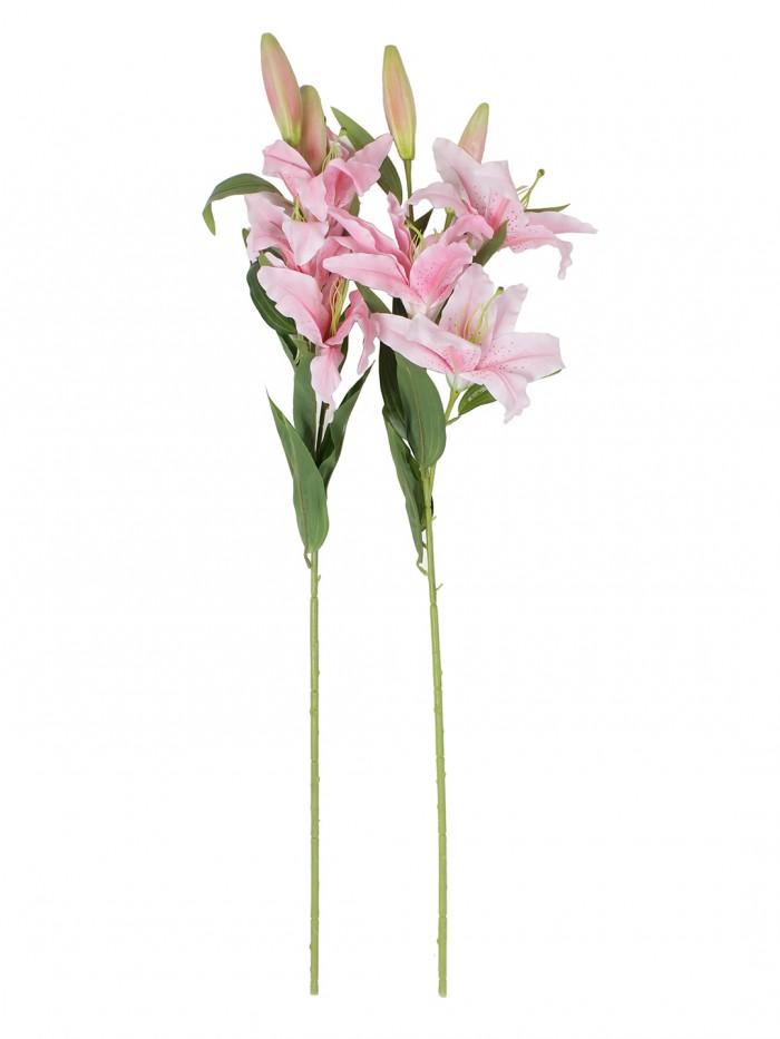 Buy Fourwalls Elegant Artificial Lily (3 Heads, Light Pink) Online