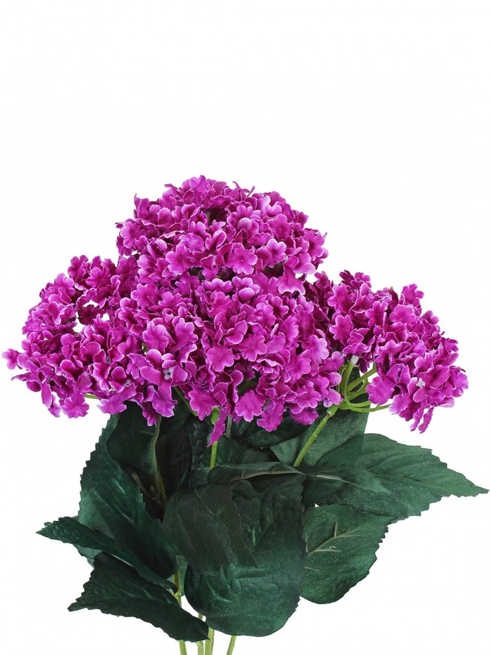 Buy FourwallsArtificial Hydrangea Bouquet For Home, Events And Wedding Decor (48 Cm, Purple) Online