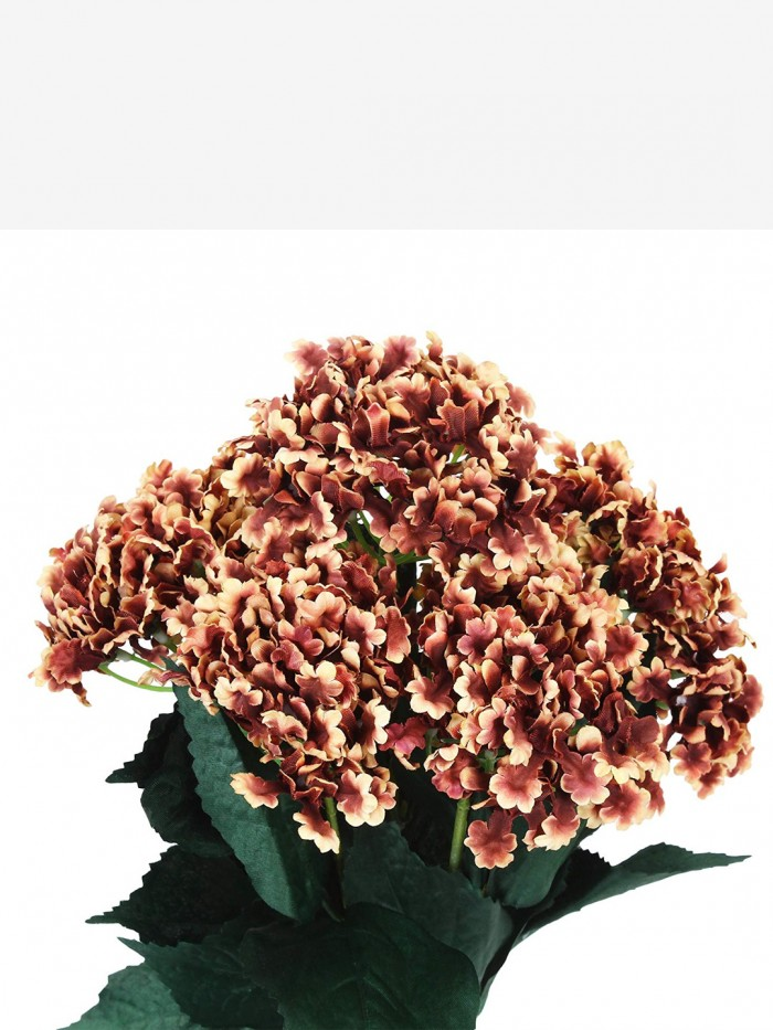 Buy FourwallsArtificial Hydrangea Bouquet For Home, Events And Wedding Decor (48 Cm, Brown) Online