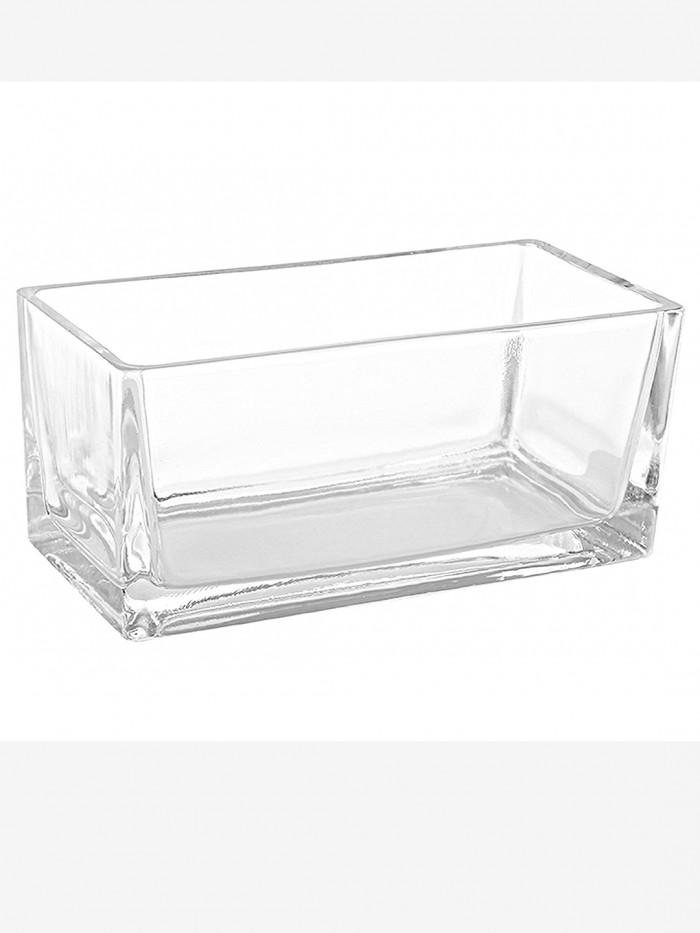 Buy Fourwalls Rectangular Glass Vase (30 Cm X 7.5 Cm X 5 Cm, Transparent) Online