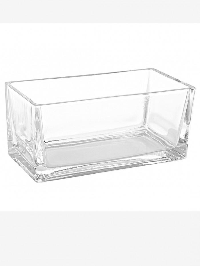 Buy FourwallsRectangular Glass Vase (30 Cm X 7.5 Cm X 5 Cm, Transparent) Online