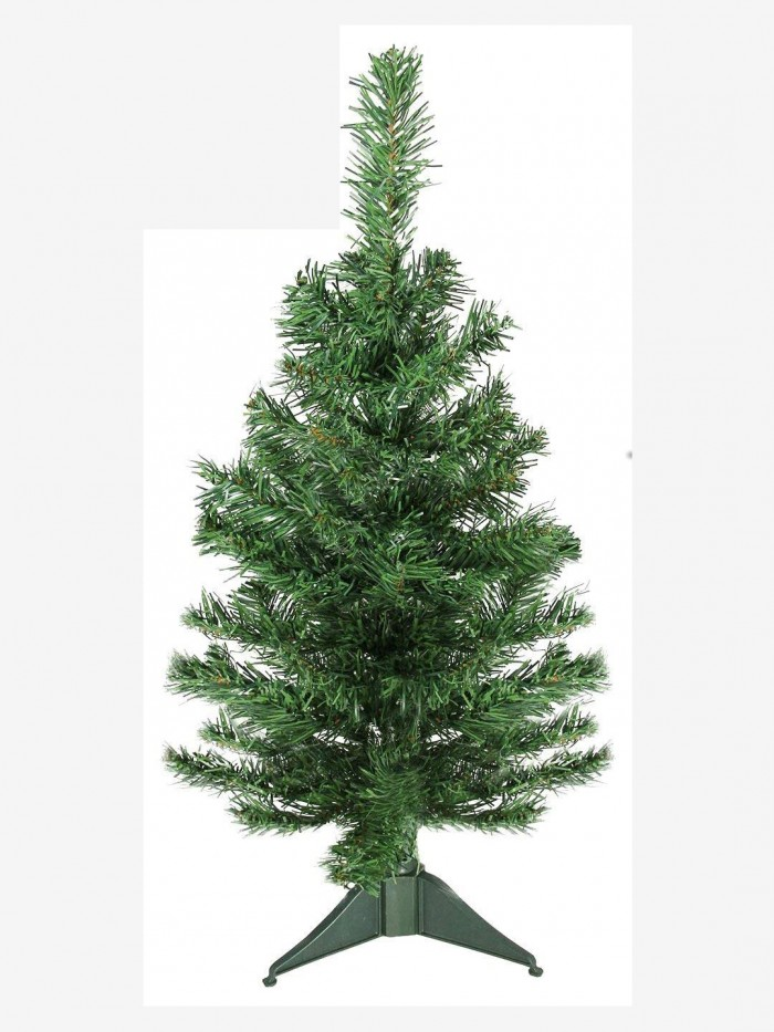 Buy Artificial Christmas Tree 2 FEET Tree 60 Cm, Natural Color (Green,) With Plastic Leaves, And Sta