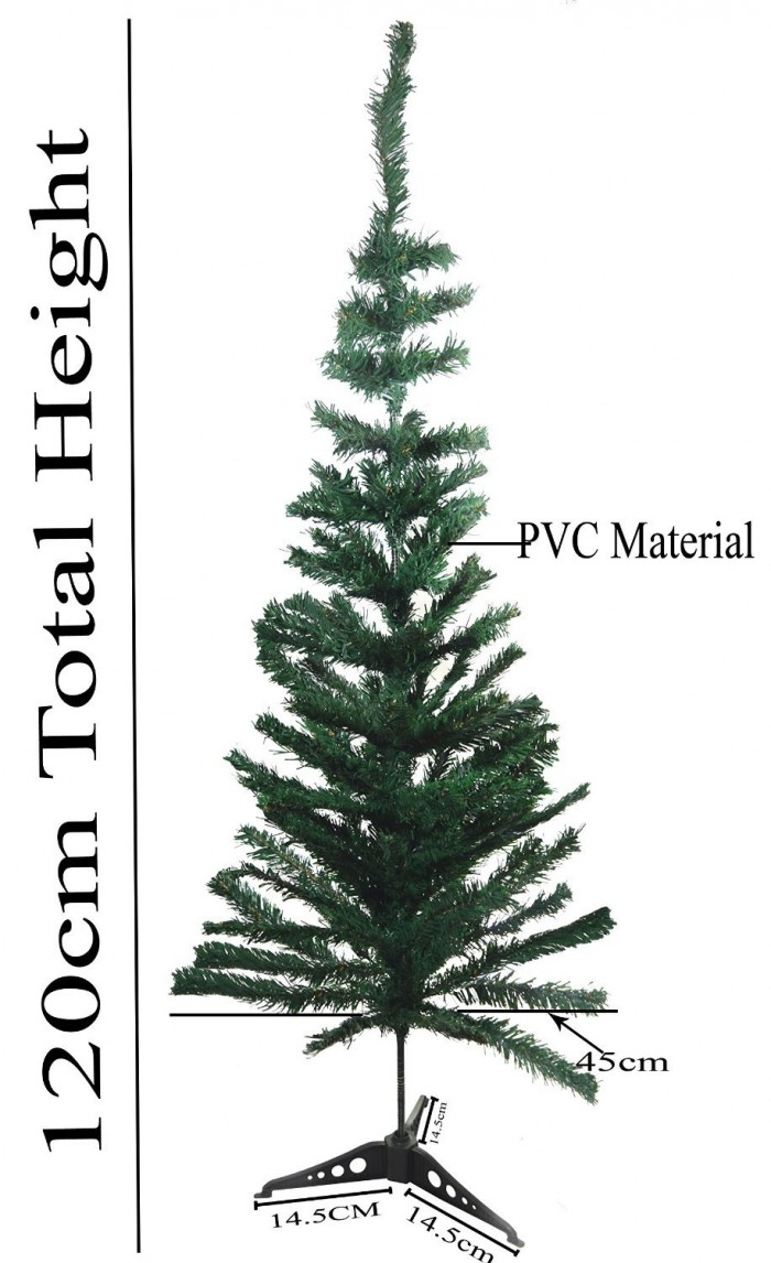 Buy Artificial Christmas Tree 4 FEET Tree 120 Cm, Natural Color (Green,) With Plastic Leaves, And St
