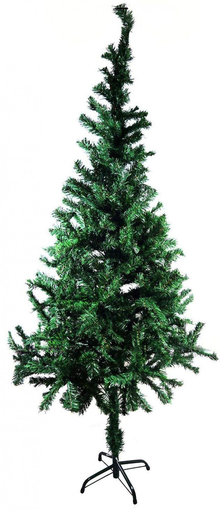 Buy Artificial Christmas Tree 6 FEET Tree 180 Cm, Natural Color (Green,) With Plastic Leaves, And St