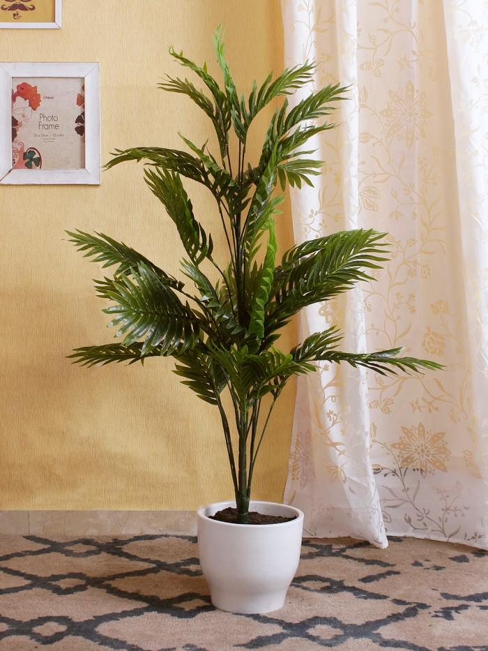 Buy Fourwalls Decorative Artificial Areca Floor Plant (20 Branches, 115 Cm) Online