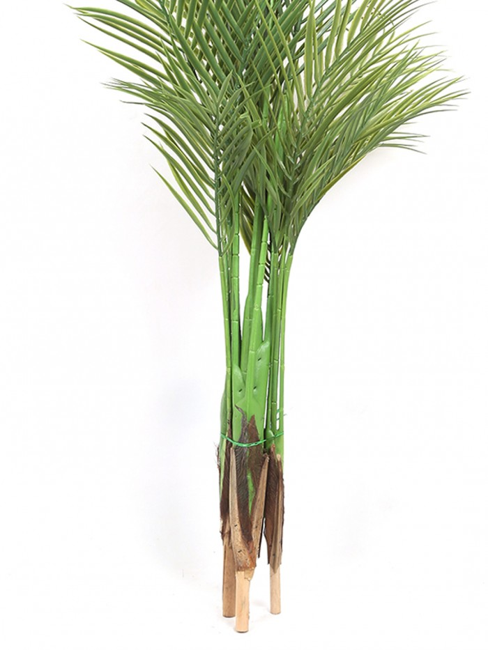 Buy Fourwalls Decorative Artificial Arica Floor Plant Without Pot (130 Cm Tall, 4 Branches, Green) O