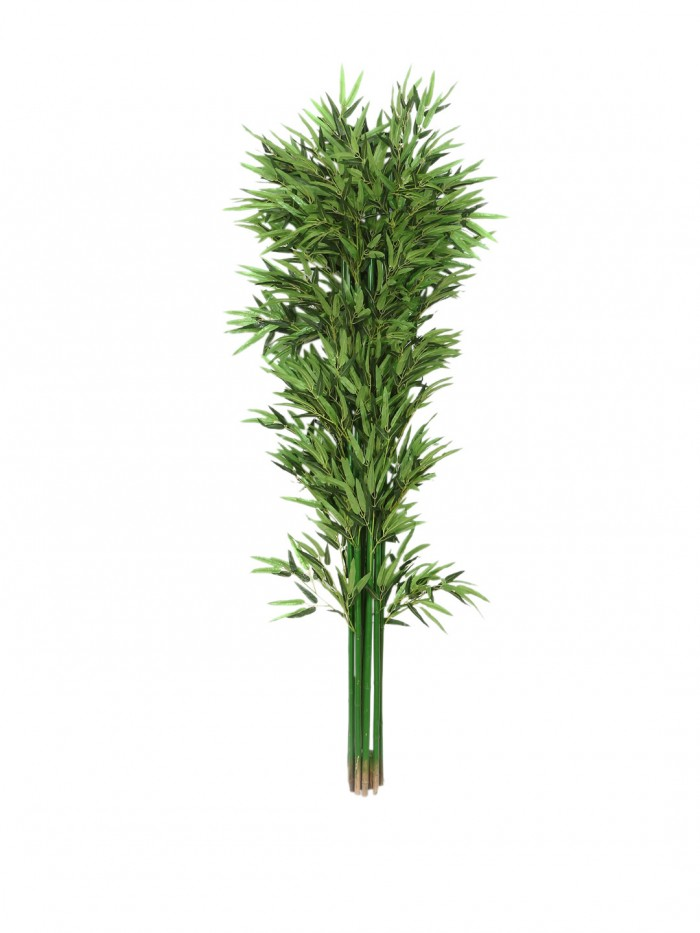 Buy Fourwalls Artificial Polyester And Original Bamboo Plant Without Pot (15 Cm X 25 Cm X 180 Cm, Gr
