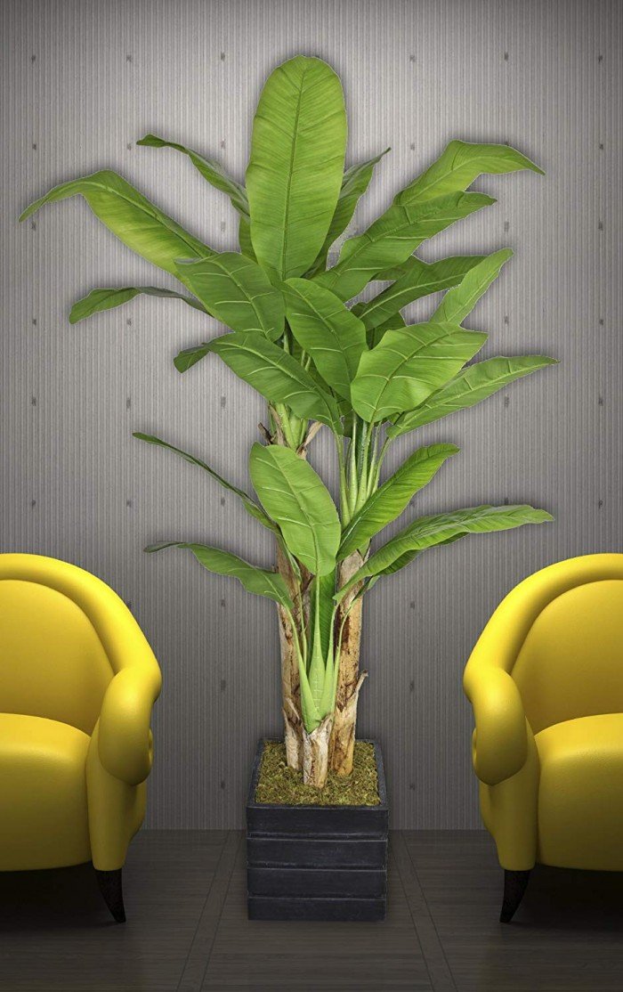 Buy Fourwalls Decorative Artificial Banana X 3 Plant (160 Cm,3Bransh, Green) Online