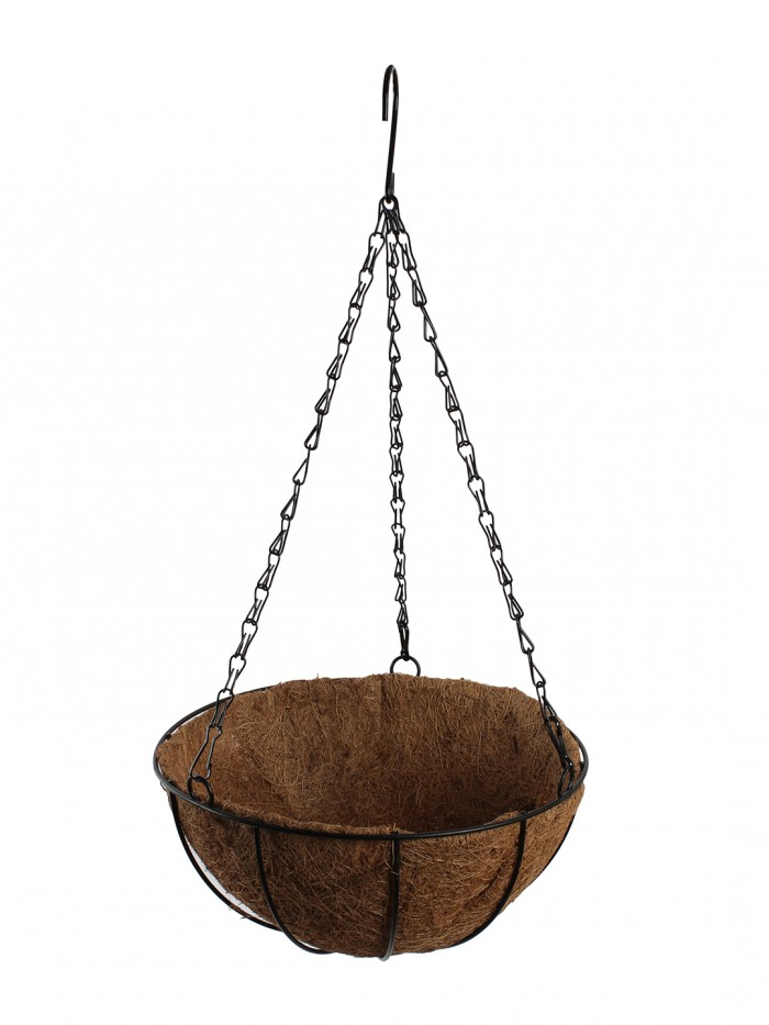 Buy Hanging Planter, 8 Inch Growers Hanging Basket Plant Flower Holder With Coco Liner Home Garden B
