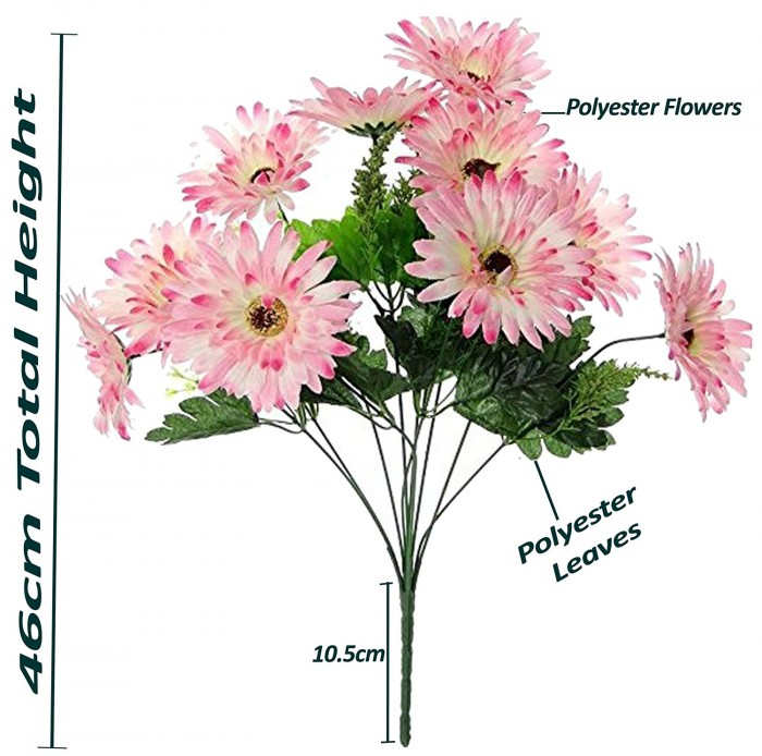 Buy Artificial Chrysanthemum Flower Bunch(Light Pink) Online