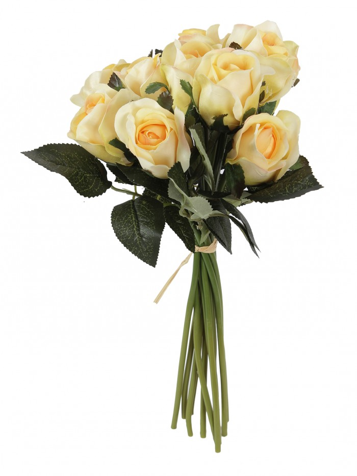 Buy FOURWALLS ARTIFICIAL ROSE BOUQUET (35 CM TALL, WHITE) Online