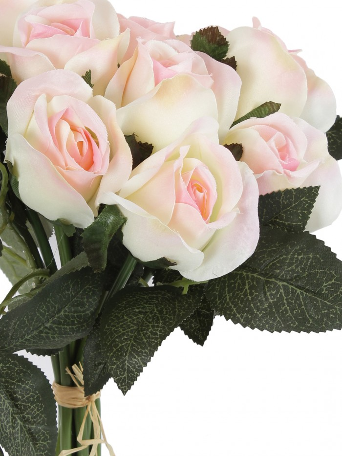 Buy FOURWALLS ARTIFICIAL ROSE BOUQUET (35 CM TALL, Pink) Online