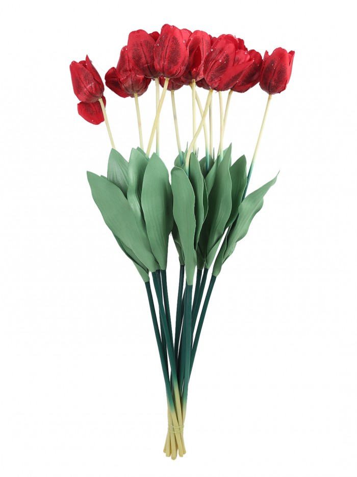 Buy Fourwalls Artificial Synthetic Single Open Rose (45 Cm, Set Of 4, Peach) Online