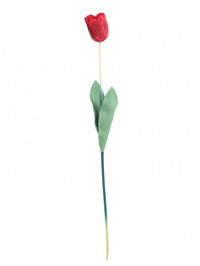 Buy Fourwalls Artificial Tulip Flower Sticks (65 Cm Tall, Red, Set Of 12) Online