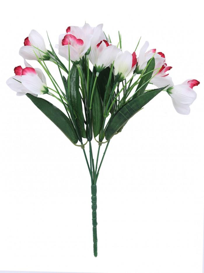 Buy Artificial Polyester Hydrangea Bouquet (24 Cm X 24 Cm X 54cm, Red) Online
