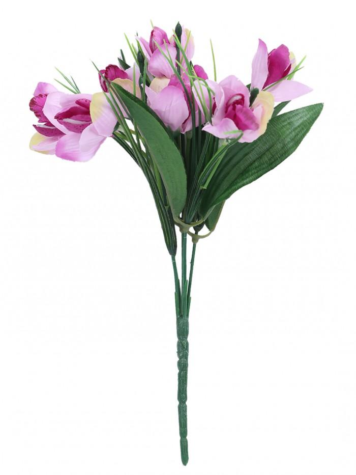 Buy Artificial Polyester Hydrangea Bouquet (24 Cm X 24 Cm X 54cm, Peach) Online