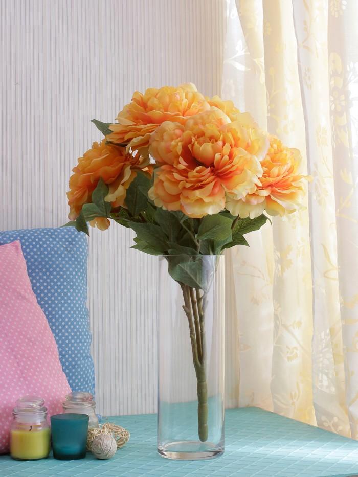 Buy Artificial Rose Flower Bunch (Set Of 1,purple) Online