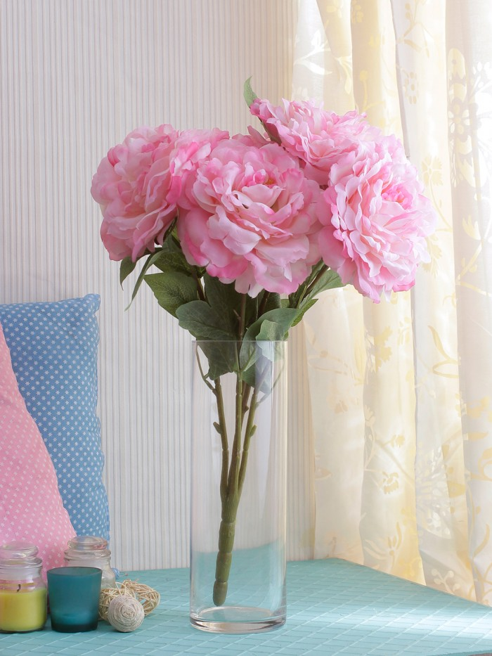 Buy Artificial Rose Flower Bunch (Set Of 1,White) Online