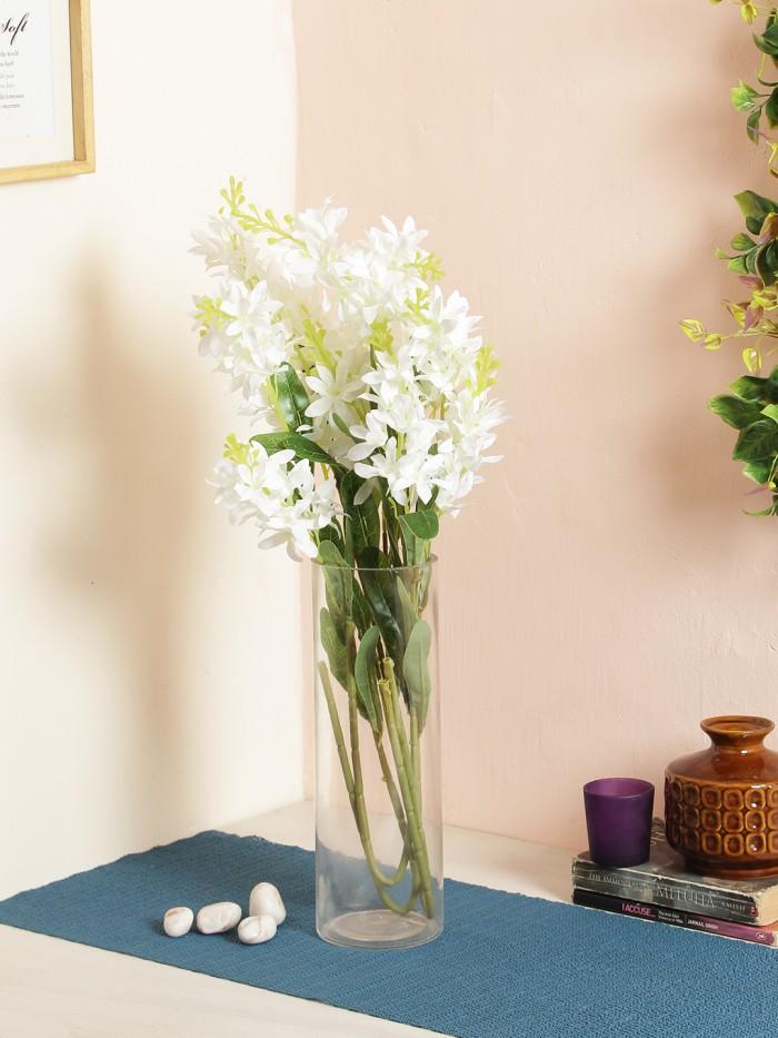 Buy Voilet Flower (Set Of 2, 3 Head, Dark Blue) Online