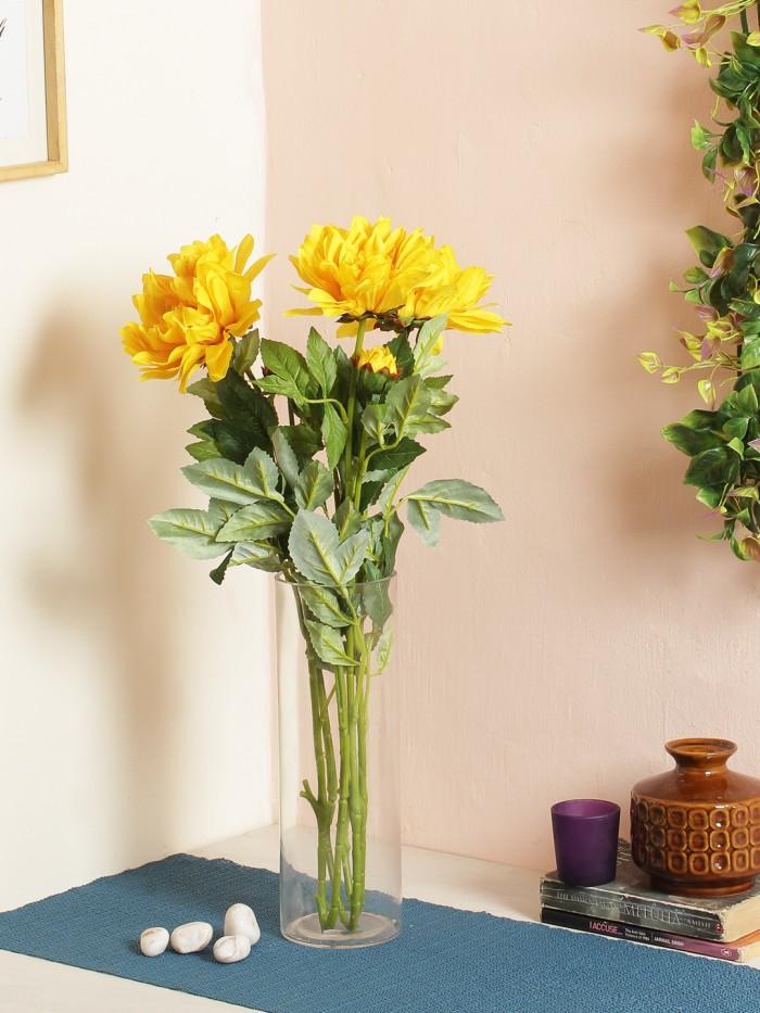 Buy Artificial Chrysanthemum Stems (dark Pink Online