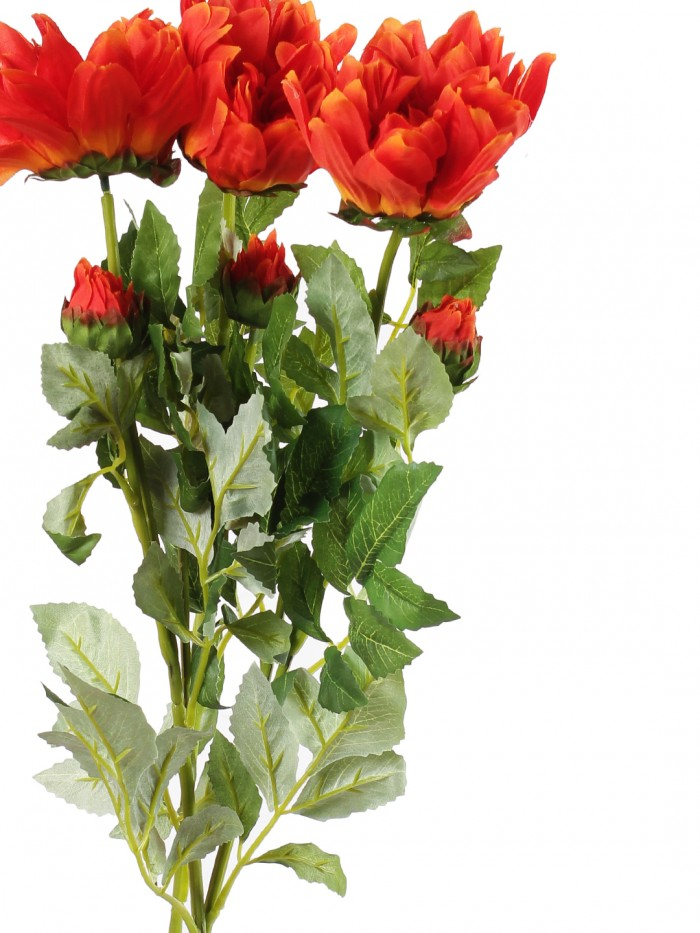 Buy Artificial Chrysanthemum Stems (Orange) Online