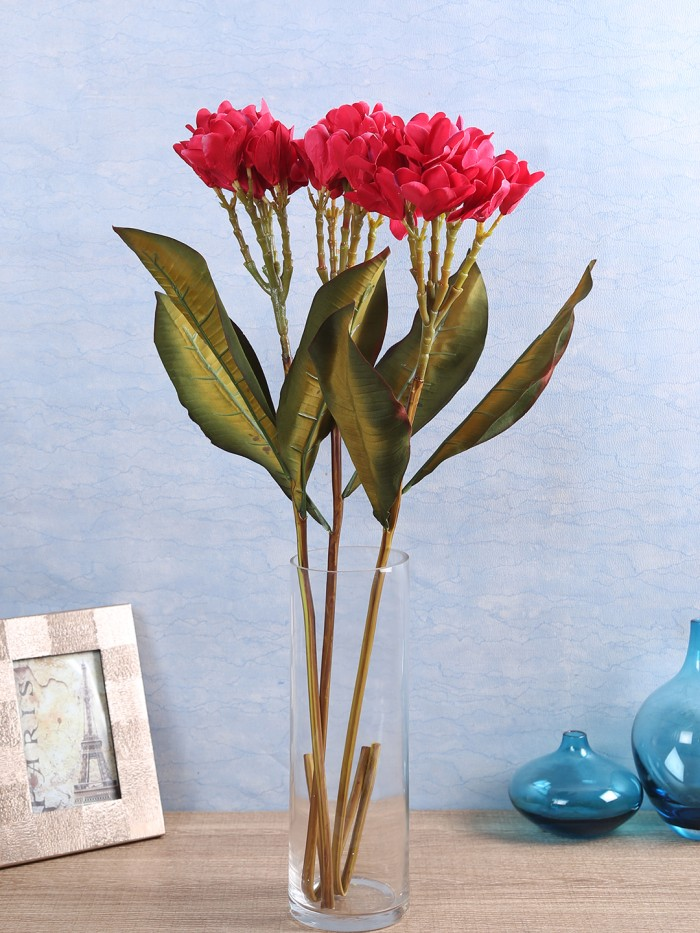 Buy Classy Artificial Champa Flower Stick (Set Of 2 Peach) Online