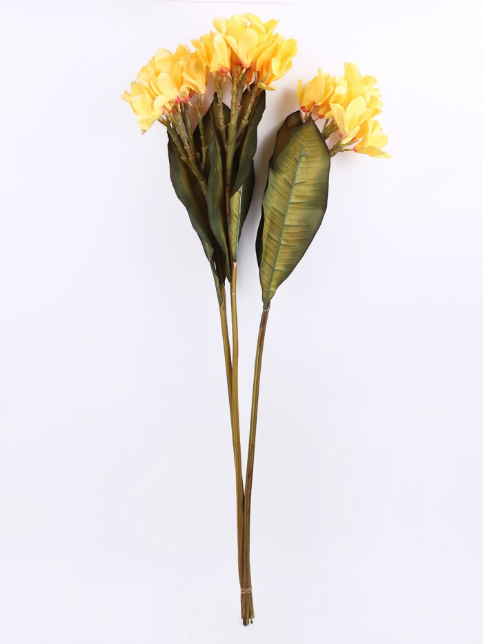 Buy Classy Artificial Champa Flower Stick (Set Of 2 Yellow) Online