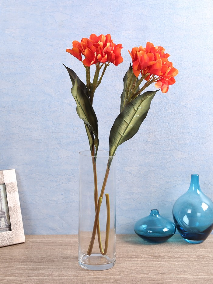Buy Classy Artificial Champa Flower Stick (Set Of 2 Sunred) Online