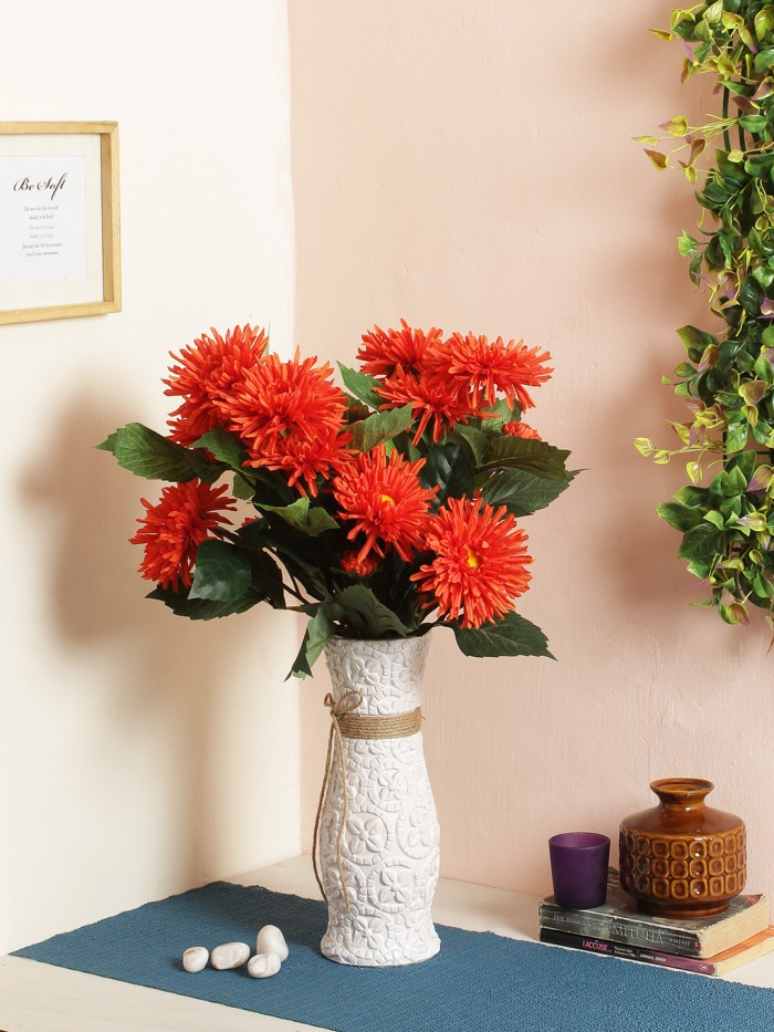 Buy Fuscia Flower (78 Cm X 24 Cm X 78 Cm, Orange) Online