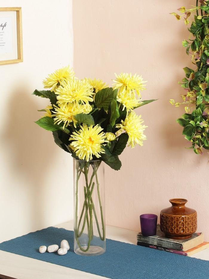 Buy Fuscia Flower (78 Cm X 24 Cm X 78 Cm, Yellow) Online