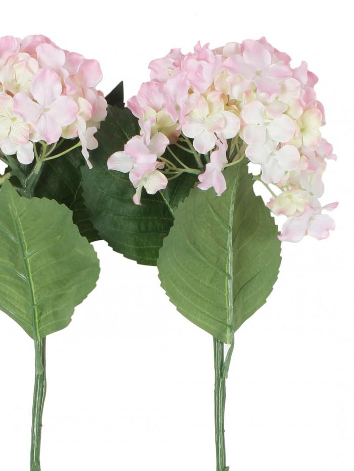Buy Synthetic Hydrangea Flower (Set Of 2, 2 Sticks, Green) Online