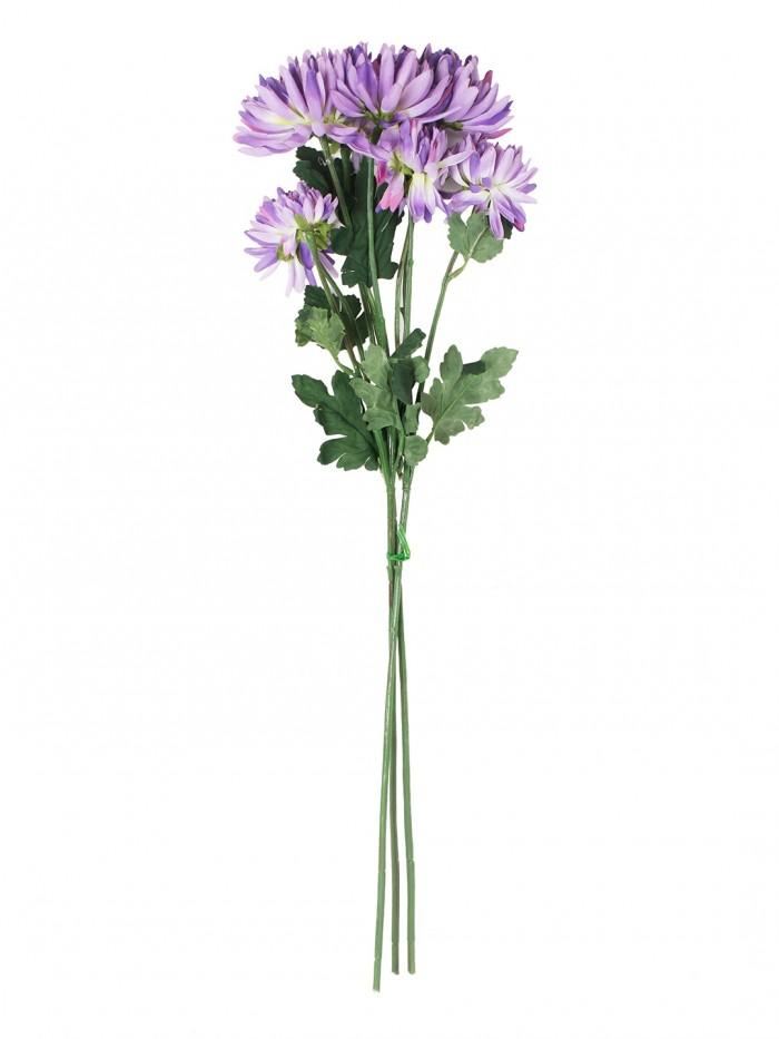 Buy Artificial Chrysanthemum Flower Sticks (50 Cm Tall, Blue, Set Of 3) Online