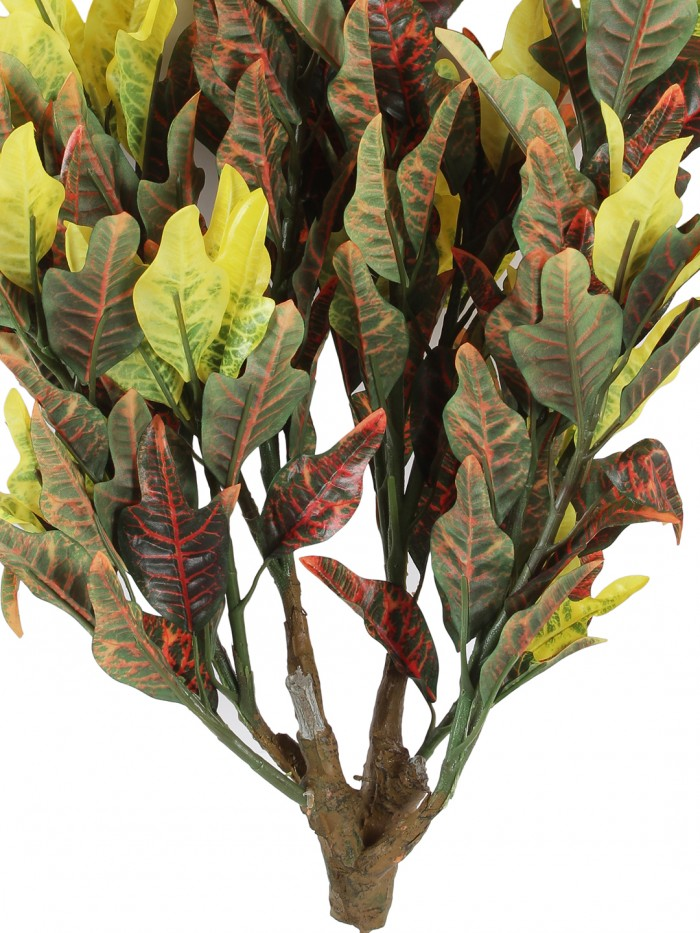 Buy Artificial 60 Cm Tall Mini Croton Plant Without Pot(multicolour) Online