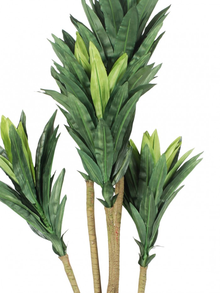 Artificial Dracaena Plant without Pot (86 cm tall, 5 branches, Green)