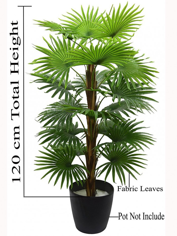 Decorative Artificial Palm Floor Plant Without Pot (18 Branches, 120 cm Tall)