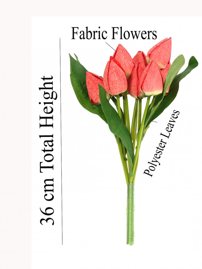 Buy Artificial Tulip Flower Bunches (38 Tall, 9 Flower, Red) Online