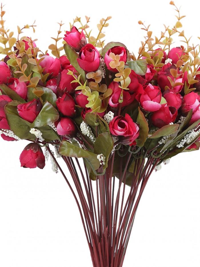 Buy Fourwalls Artificial Hydrangea Flower Bouquet (45 Cm, White) Online