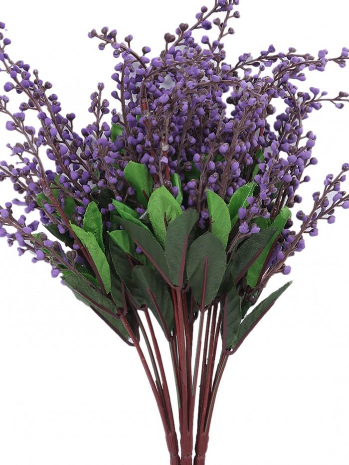 Buy Fourwalls Artificial Rose Bunch (27 Cm, Dark Purple, Set Of 2) Online