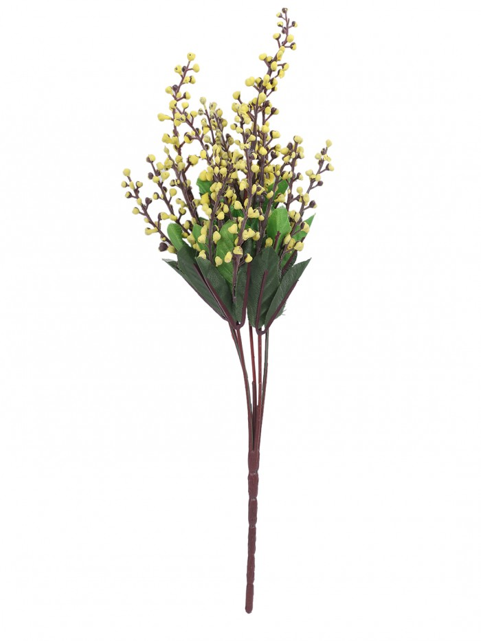 Buy Fourwalls Artificial Rose Bunch (27 Cm, Yellow, Set Of 2) Online