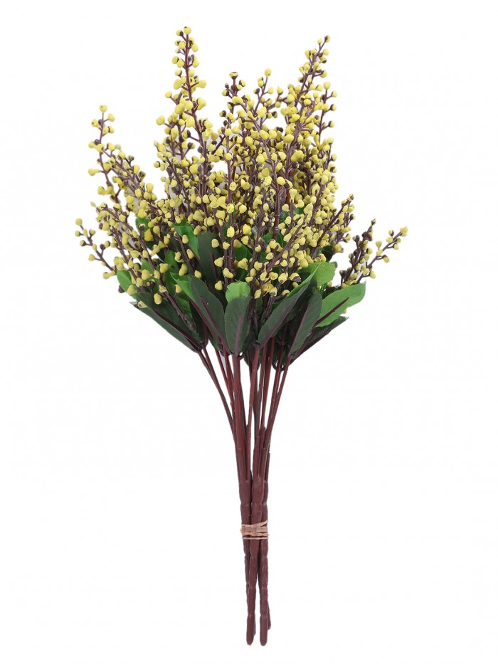 Buy Fourwalls Artificial Rose Bunch (27 Cm, Yellow, Set Of 2) Online