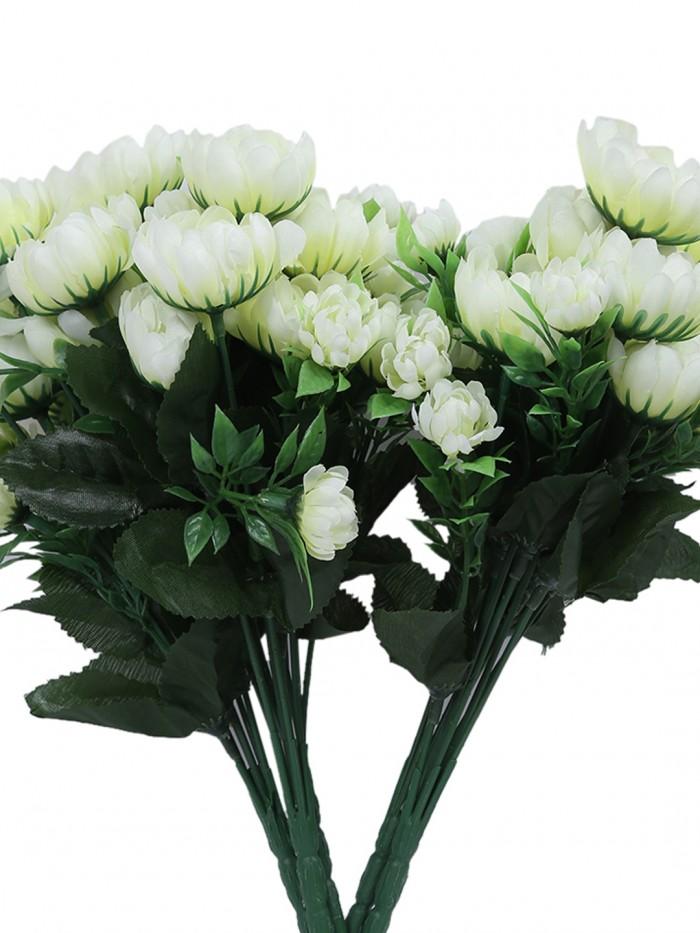 Buy Fourwalls Artificial Flower Bouquet (20 Cm X 20 Cm X 44 Cm, Pink) Online