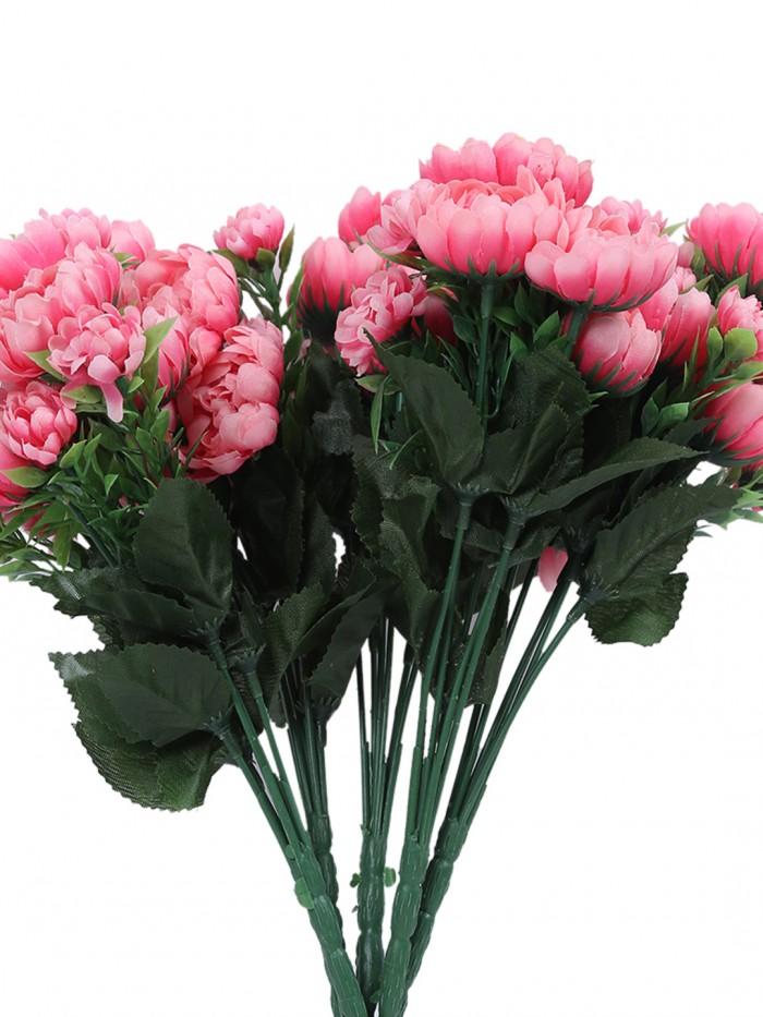 Buy Fourwalls Artificial Flower Bouquet (20 Cm X 20 Cm X 44 Cm, Red And White) Online