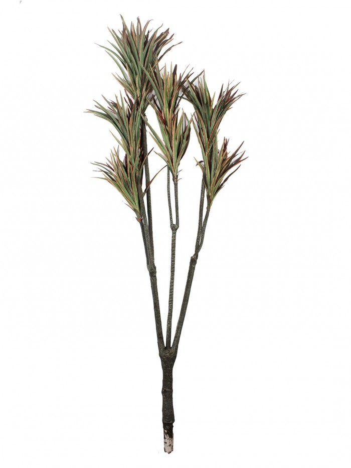 Buy Fourwalls 160cm Tall Decorative Artificial Yucca Plant Without Pot (Red And Green) Online