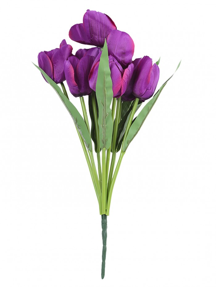 Buy Artificial Flower BIG TULIP X 9 Branch Bunch Online