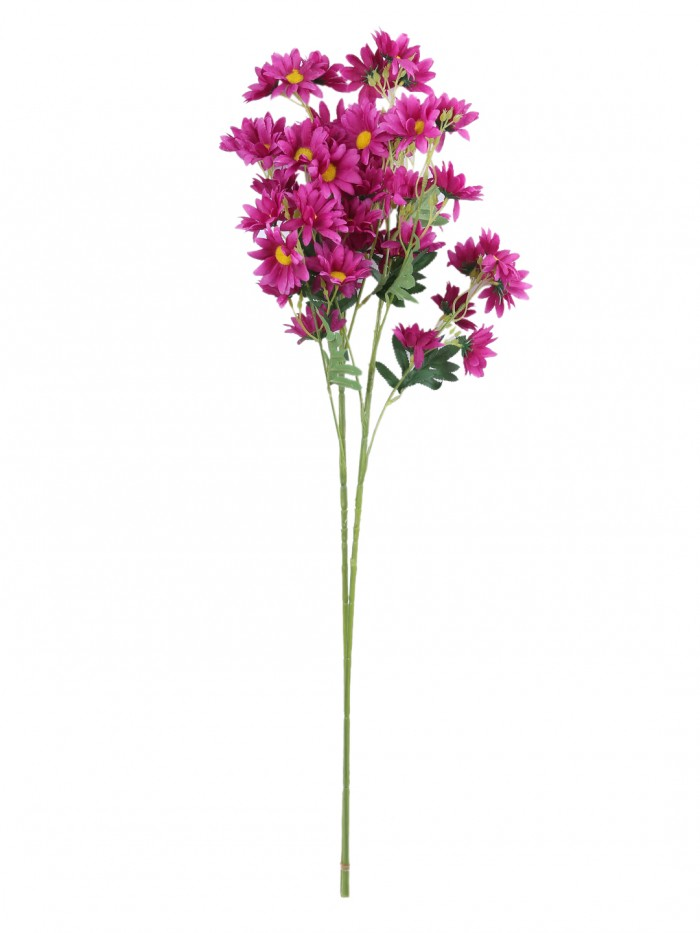 Buy Artificial Daisy Flower Stems (80 Cm Tall, 5 Branches, Purple, Set Of 2) Online