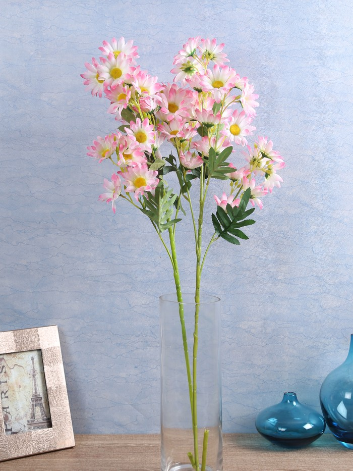 Buy Artificial Daisy Flower Stems (Set of 4, L/Pink)