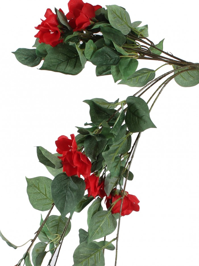 Buy Beautiful Red Artificial Beautiful Bougainvillea Bush & 40 Inch Online