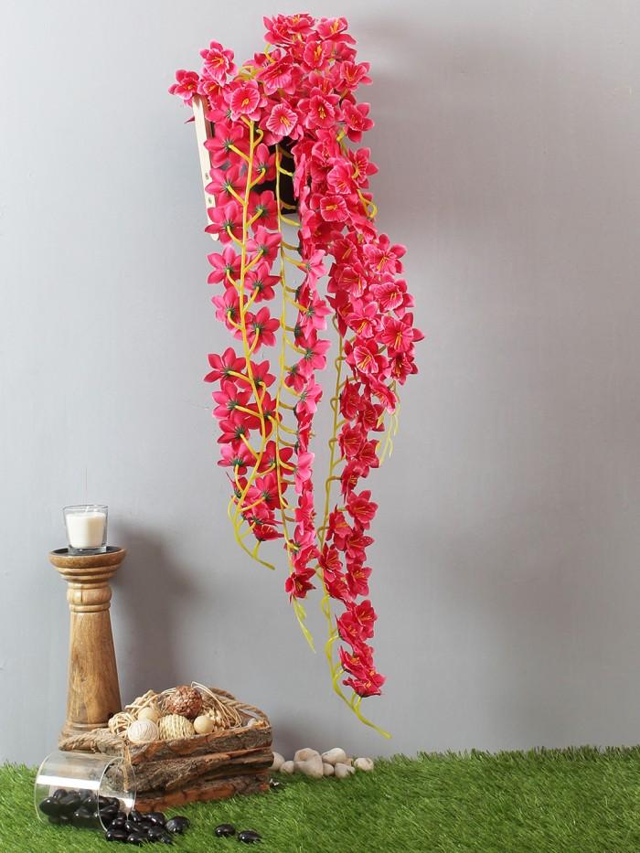 Buy Beautiful Set Of 2 White Artificial Decorative Jasmin Flower Bale & 180 Cm Tall Online