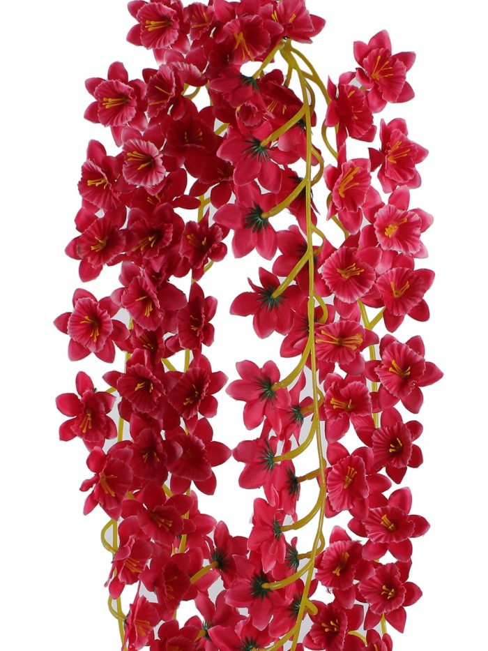 Buy Beautiful Set Of 2 Dark & Pink Artificial Decorative Jasmin Flower Bale & 180 Cm Tall Online