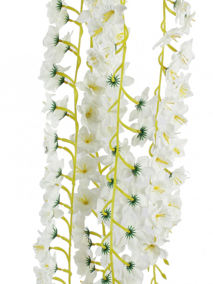Buy Beautiful Set Of 2 White Artificial Decorative Jasmin Flower Bale & 180 Cm Tall Online